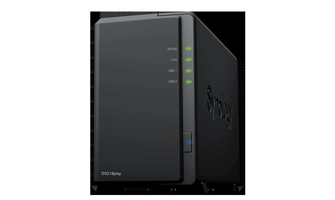 Synology DS218 nas ekstern harddisk